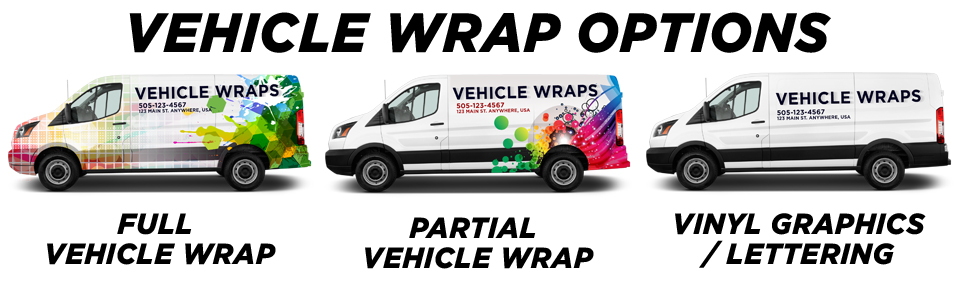 Playa Vista Vehicle Wraps & Graphics vehicle wrap options