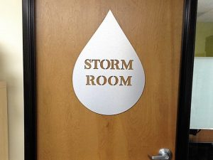 custom metal door sign