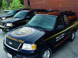 Custom commercial vehicle graphics